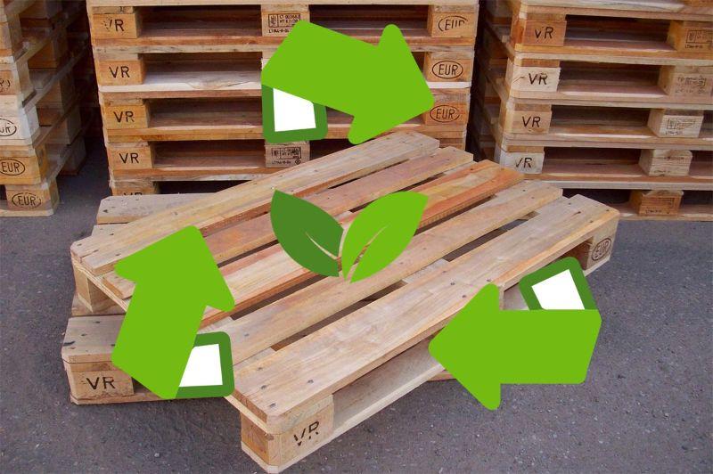 Connu Recyclage de palettes bois - Palettes Discount, vente de palettes  MS77